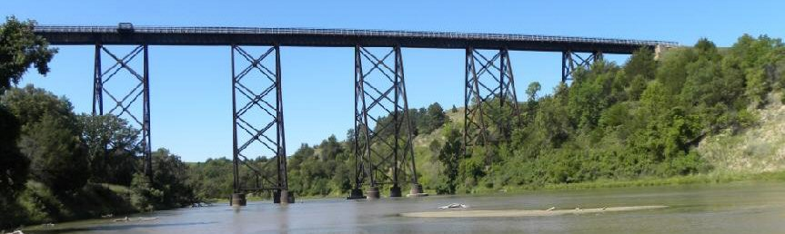 Valentine Railroad Bridge in Valetine NE